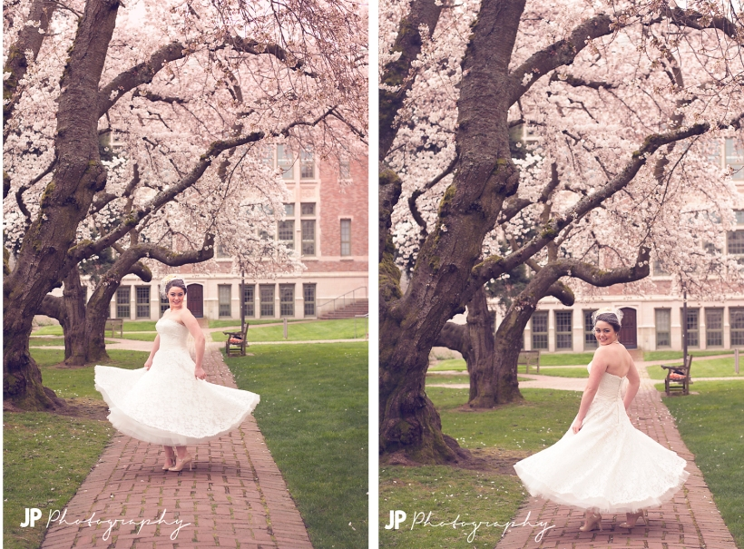 UW Seattle Bridal Photo